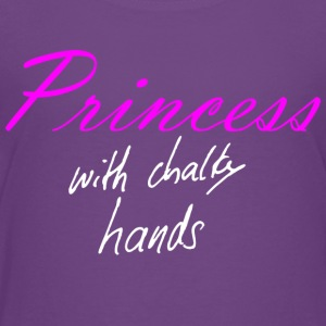 Princess with chalky hand