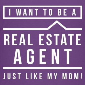 I want to be a real estate agent like Mom(White) - Kids' Premium T-Shirt