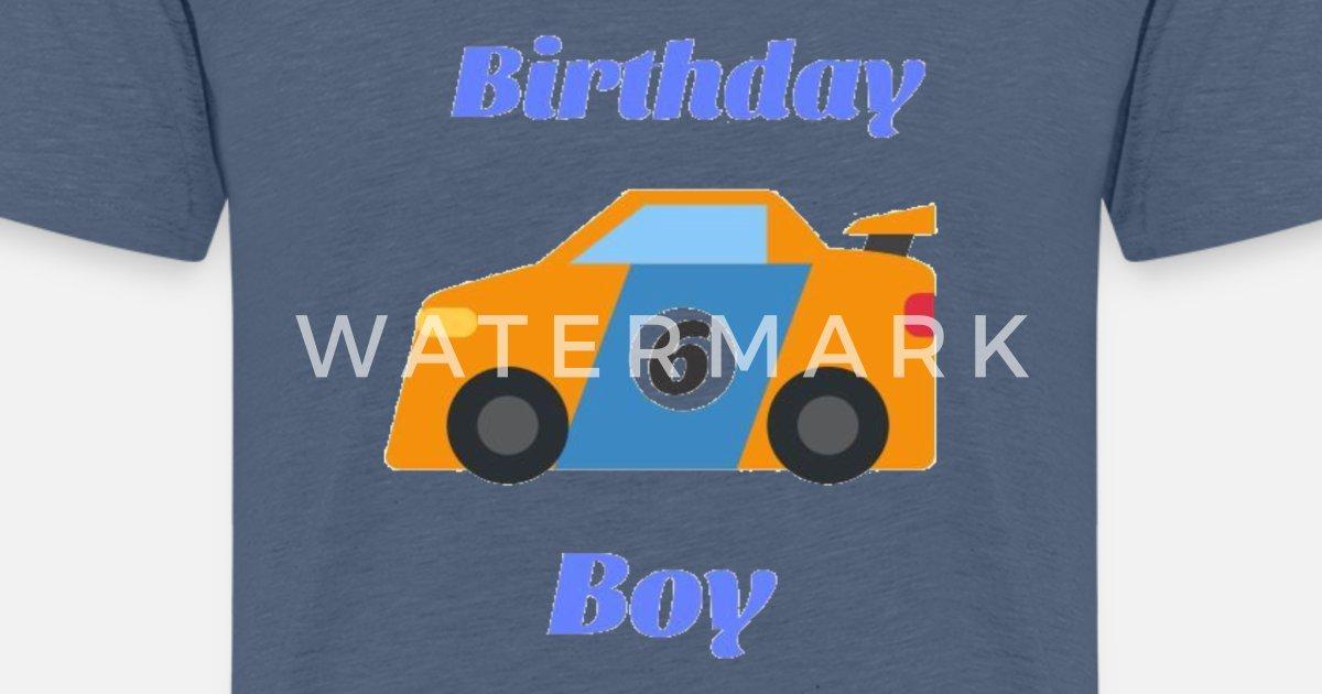 Birthday Boy 6 Funny Gift For Cars Lovers Kids Premium T Shirt