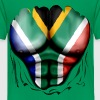 South Africa Flag Ripped Muscles, six pack, chest t-shirt - Kids' Premium T-Shirt