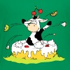 Cow jumping out of Cake - Kids' Premium T-Shirt