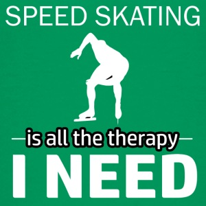Speedskating is my therapy - Kids' Premium T-Shirt