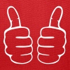 both thumbs up finger hand like cheer triumph - Tote Bag