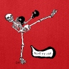 skeleton kickboxing - Tote Bag
