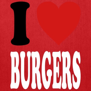 I love BURGERS (variable colors!) - Tote Bag