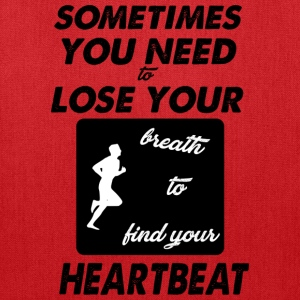 heartbeat jog - Tote Bag