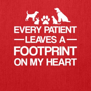 Veterinarian Patient Leave Footprint Heart - Tote Bag