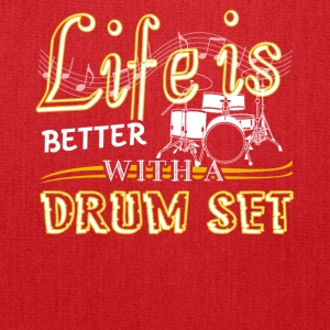 Life Is Better With Drum Set Shirts - Tote Bag