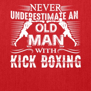 Never Underestimate Old Man With Kickboxing Shirt - Tote Bag