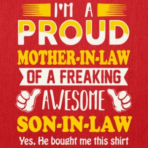 Proud Mother In Law Of Awesome Son In Law T Shirt - Tote Bag