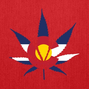 Colorado Pot Leaf Flag - Tote Bag