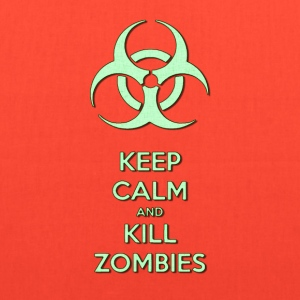 Keep calm and kill zombies, zombie light green - Tote Bag