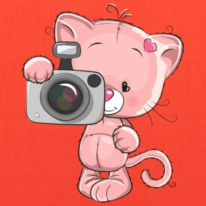 cat-photographer-camera-heart - Tote Bag