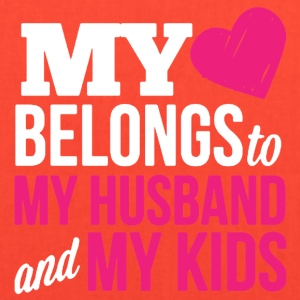 MY HEART BELONGS TO MY HUSBAND AND MY KIDS - Tote Bag