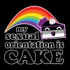 My Sexual Orientation Is Cake Funny LGBT Pride - Tote Bag