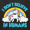 Unicorns - I don't believe in humans - Tote Bag