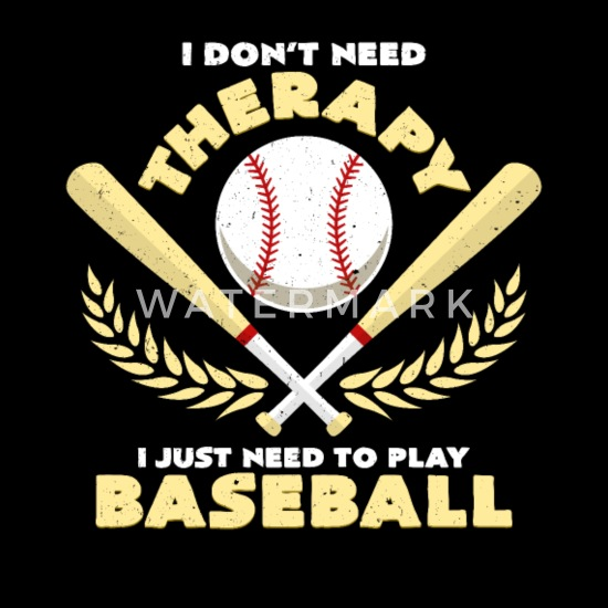 I Don\'t Need Therapy Baseball Quotes Funny Sayings Tote Bag ...