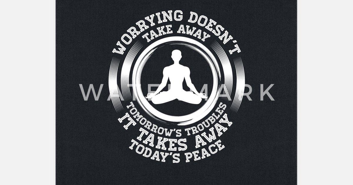 Zen Buddhist Yoga Meditation Shirt Inner Peace Tote Bag | Spreadshirt
