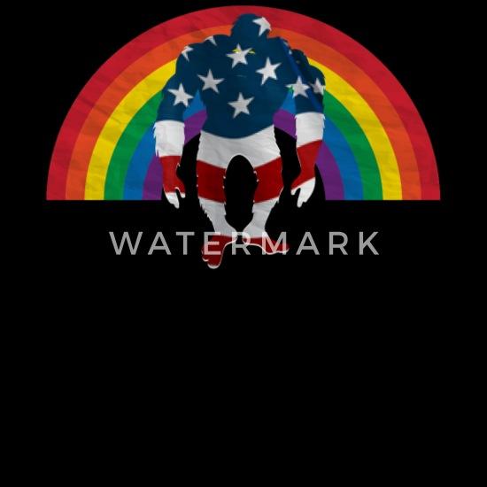American Flag bigfoot Rainbow LGBT pride Tote Bag | Spreadshirt