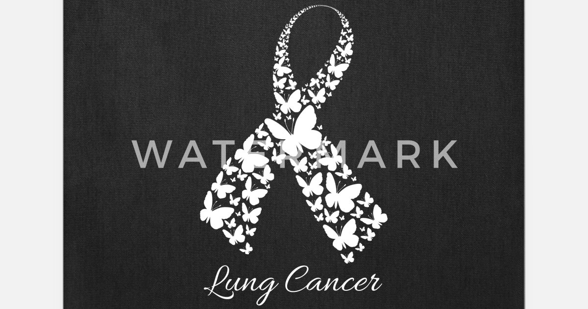 Lung Cancer Awareness Ribbon Tote Bag