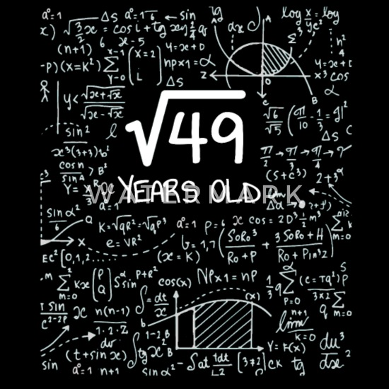 Square Root Of 49 7th Birthday Geek Design Tote Bag Spreadshirt