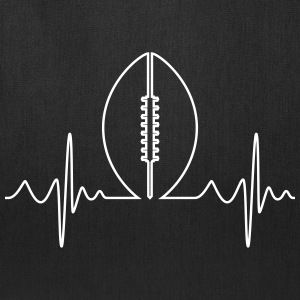 American Football Heartbeat - Tote Bag