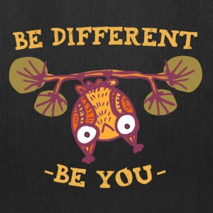 Be Different Be You Motivation Creative Funny Owl - Tote Bag