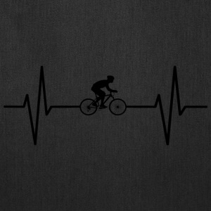 My heart beats for cycling! gift - Tote Bag