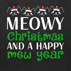 Cat Meowy Christmas And A Happy New Year - Tote Bag