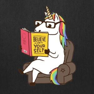 Unicorn Believe in Yourself Motivational Boo - Tote Bag