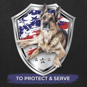 TO PROTECT AND SERVE German Shepherd Police Badge - Tote Bag