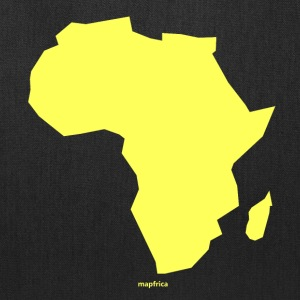 Africa Map Continent yellow - Tote Bag