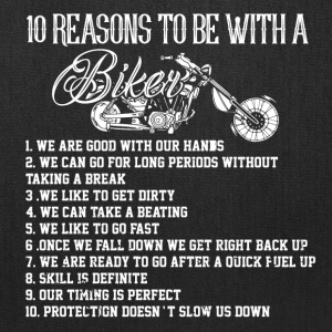 MOTORCYLE BIKER 10 REASONS TO BE A BIKER. GIFT MAN - Tote Bag