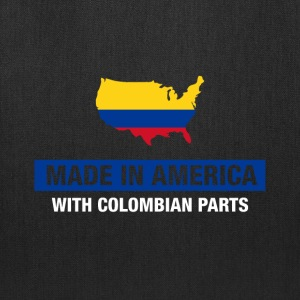 Made In America With Colombian Parts Colombia Flag - Tote Bag