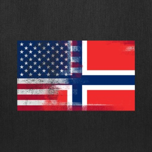 Norwegian American Half Norway Half America Flag - Tote Bag