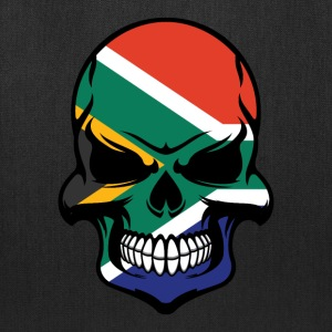 South African Flag Skull Cool South Africa Skull - Tote Bag
