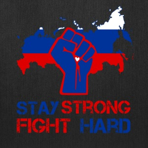 Russia stay strong fight hard - Tote Bag
