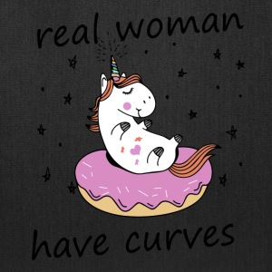real woman have curves unicorn - Tote Bag