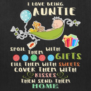 I Love Being Auntie T Shirt - Tote Bag