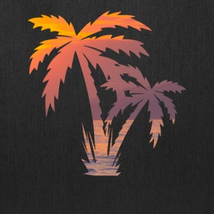 California Palm Tree Sunset - Tote Bag
