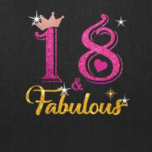 18 fabulous queen shirt 18th birthday gifts - Tote Bag