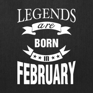 Legends are born in February - Tote Bag