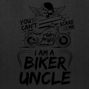 You Cant Scare Me I am Biker Uncle - Tote Bag