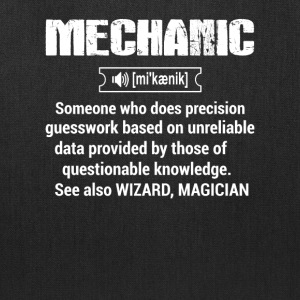 Definition of Mechanic - Tote Bag