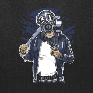 Gas Mask Bastard. The crazy thug and streetfighter - Tote Bag