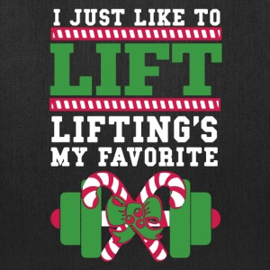 Christmas Weight Training Shirt - Tote Bag