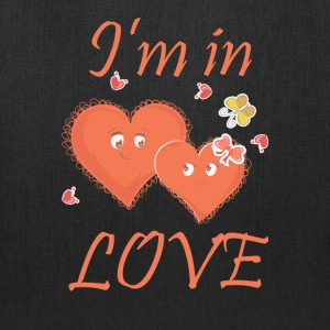 I am in Love - Heart couple - Tote Bag