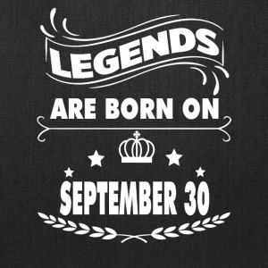 Legends are born on September 30 - Tote Bag