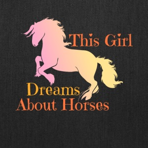 This Girl Dreams About Horses - Horse Riding - Tote Bag