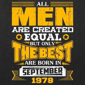 Mens All Men Are Created tee The Best Born In Sep - Tote Bag